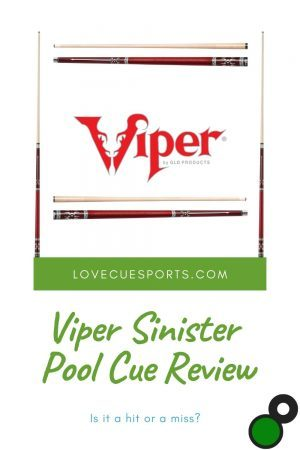 Viper Sinister Pool Cue Review
