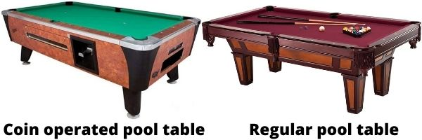 putting a pool table on its side